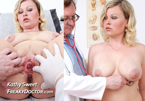 Medical porn video of busty blonde gyno exam